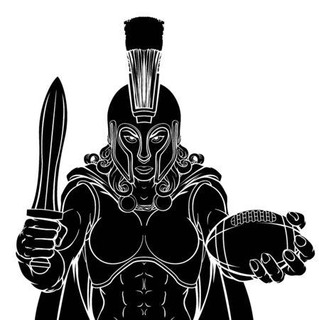 Spartan Trojan Gladiator Football Warrior Woman