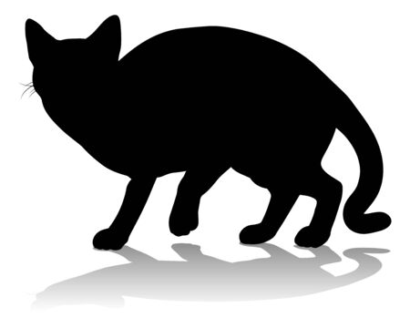 Silhouette Cat Pet Animal Illustration