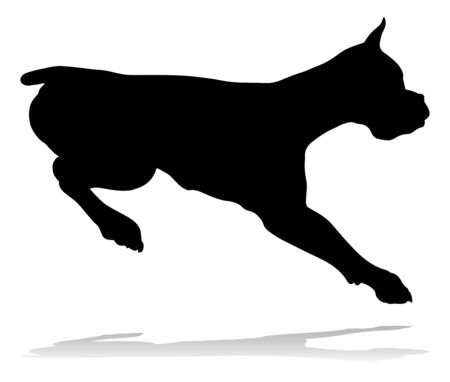 Dog Silhouette Pet Animal Illustration