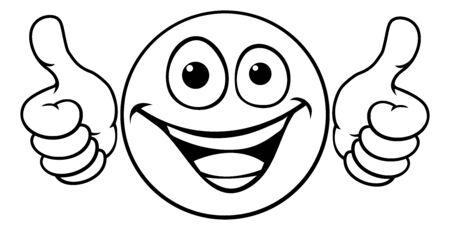 Emoticon pulgares arriba icono