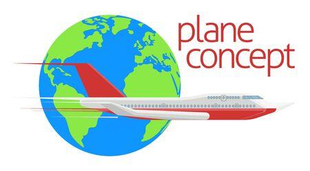 Travel Globe Airplane Concept
