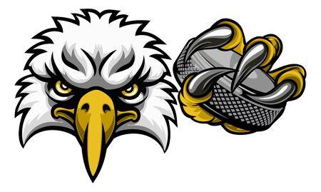 Eagle Ice Hockey Player Animal Sports Mascot