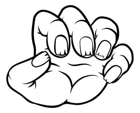 Monster Claw Cartoon Hand