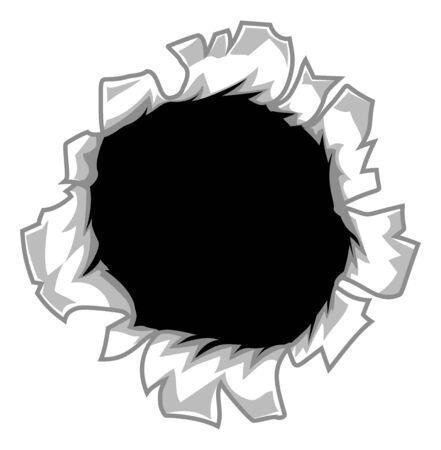 Dessin animé trou déchiré