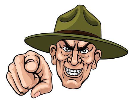 Armee Bootcamp Drill Sergeant Soldat Ponting