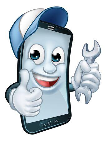 Clé de réparation de téléphone portable Thumbs Up Mascot