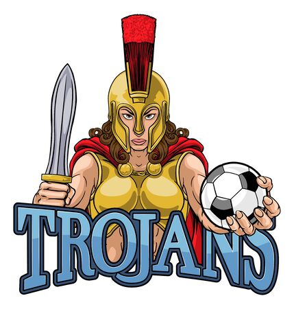 Spartan Trojan Gladiator Soccer Warrior Woman