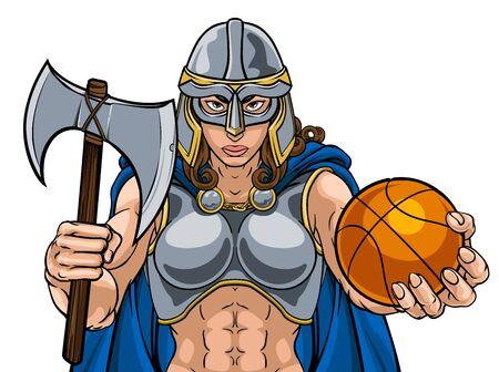 Viking Celtic Knight Basketball Warrior Woman