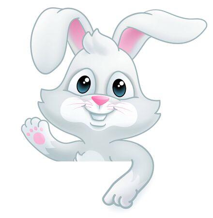 Osterhase-Kaninchen-Karikatur-Zeichen Vektorgrafik