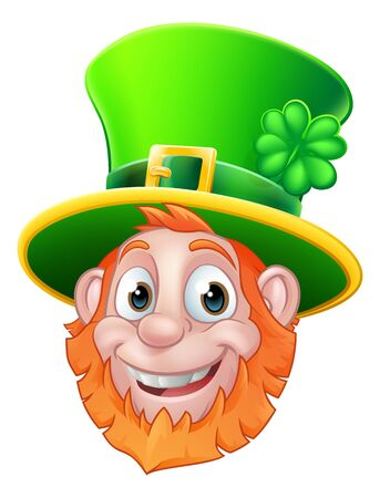 St Patricks Day Leprechaun Cartoon Archivio Fotografico - 138081797