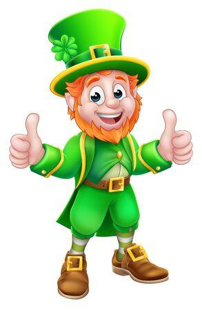 Personnage de dessin animé Leprechaun St Patricks Day