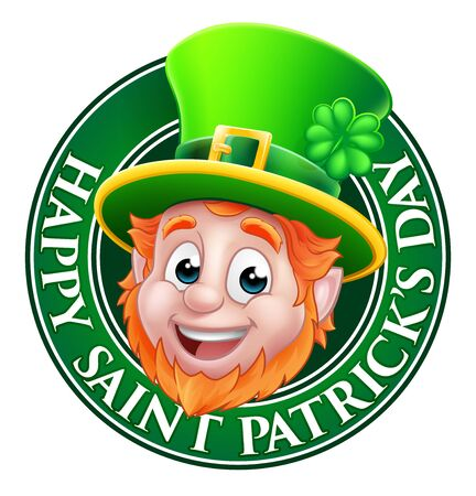 Leprechaun St Patricks Day Cartoon Design