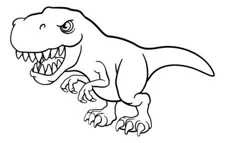 Personnage de dessin animé de dinosaure Tyrannosaurus T Rex
