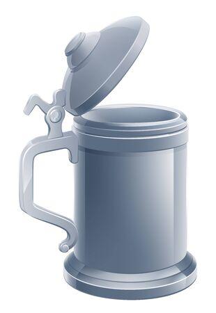 Beer Stein Pint Cartoon Tankard Mug Drink