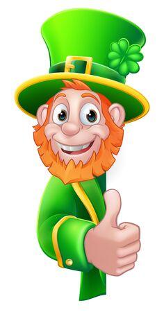 St Patricks Day Leprechaun Cartoon Sign