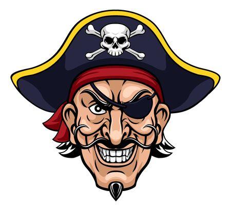Piratenkapitän Zeichentrickfigur Maskottchen