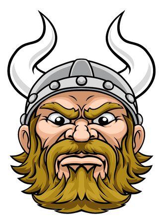 Viking Warrior Mascot Cartoon