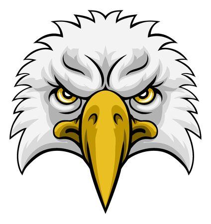 Eagle Head Mascot Face