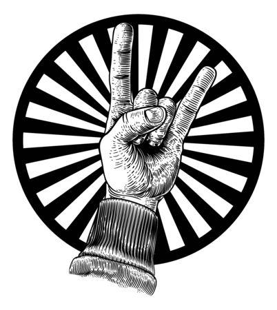 Heavy Metal Rock Music Hand Sign Gesture