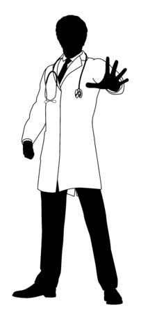 Doctor Stop Hand Sign Medical Concept
