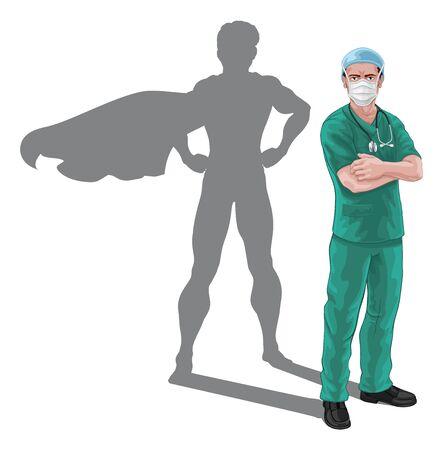 Superhero Nurse Doctor Shadow Super Hero