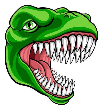 Dinosaurio T Rex o mascota de dibujos animados Raptor