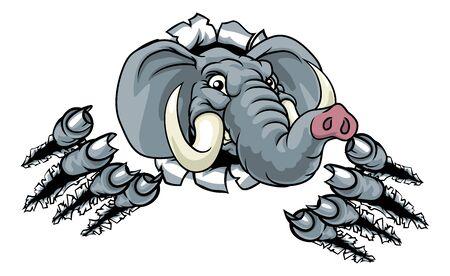 Elephant Sports Animal Mascot Vektoros illusztráció