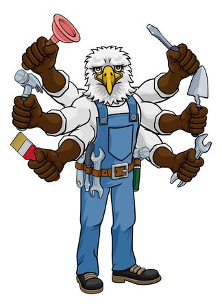 Eagle Multitasking Handyman Holding Tools