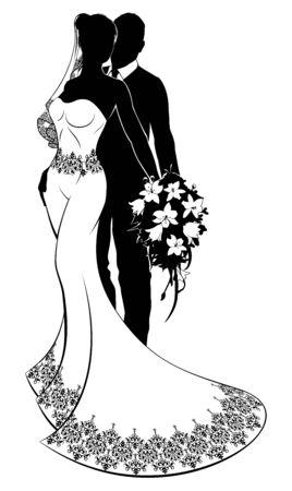 Bride and Groom Bridal Wedding Silhouette