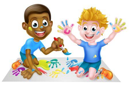 Cartoon Boys Painting