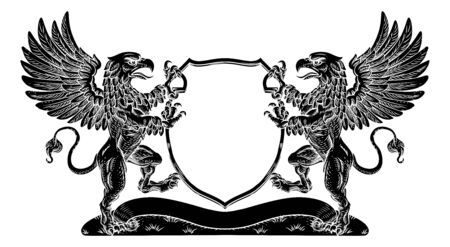 Coat of Arms Griffin Crest Griffon Family Shield