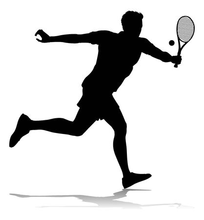 Tennis Silhouette Sport Player Man