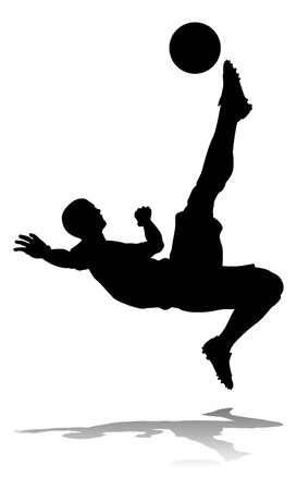 Soccer Football Player Silhouette