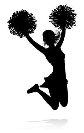 Cheerleader Silhouette Vector Illustratie