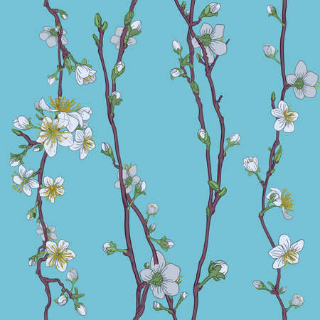 Blossom Japanese Sakura Cherry Flower Pattern