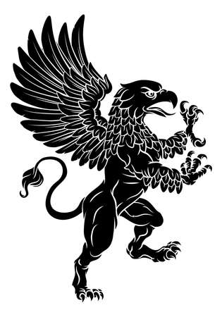Griffon Rampant Griffin Coat Of Arms Crest Mascot