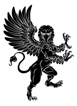 Gryphon Rampant Griffin Coat Of Arms Crest Mascot