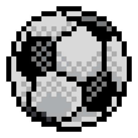 Soccer Football Ball Pixel Art Sports Game Icon Vetores