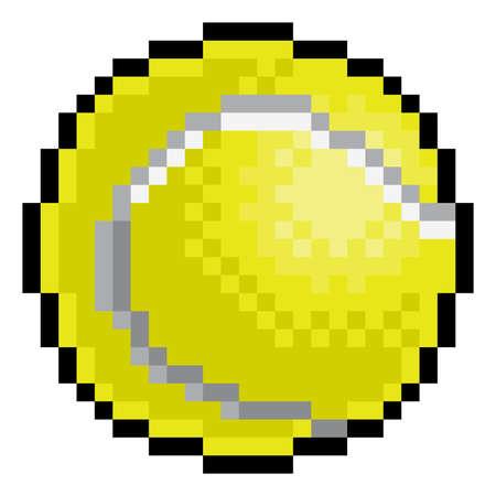 Tennis Ball Pixel Art Eight Bit Sports Game Icon