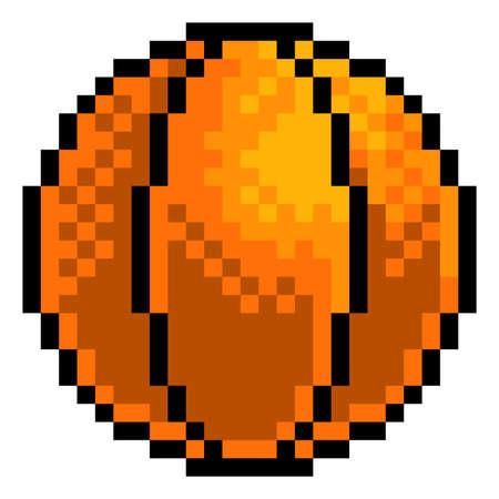 Basketball Ball Pixel Art Sports Game Icon