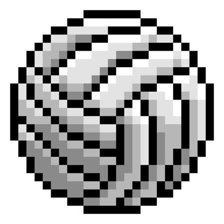 Volley Ball Pixel Art Eight Bit Game Icon