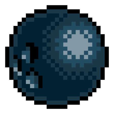 Bowling Ball Eight Bit Pixel Art Sports Game Icon