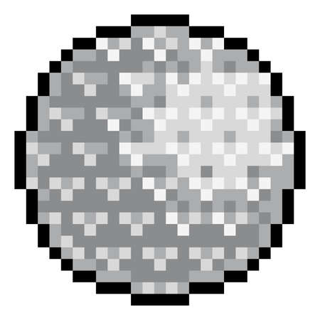 Golf Ball Pixel Art Eight Bit Sports Game Icon