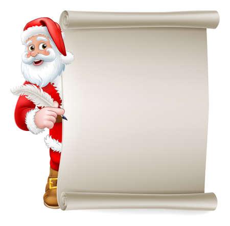 Santa Claus Christmas List Cartoon