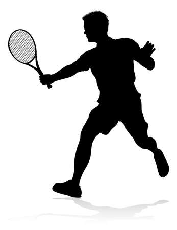 Tennis Player Man Sports Person Silhouette