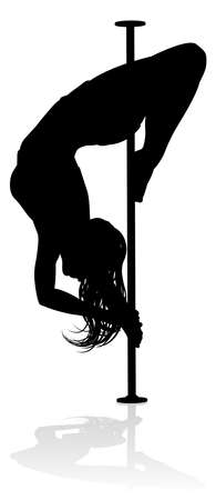 Pole Dancer Woman Silhouette