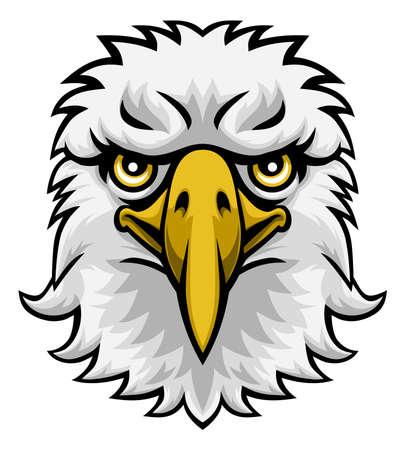 Eagle Mascot Cartoon Character