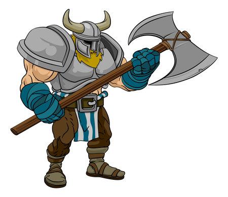 Viking Warrior Barbarian Gladiator Cartoon Man