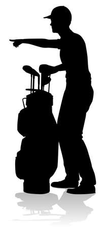 Golfer Golf Sports Person Silhouette