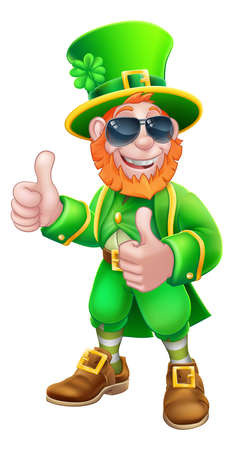 Leprechaun St Patricks Day Cartoon Character